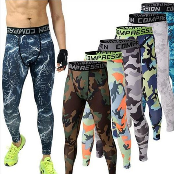 Compression Pants Army Camouflage Jogers Leggings Tights Fitness Fashion Casual Mens Pants Trousers Brand Clothing