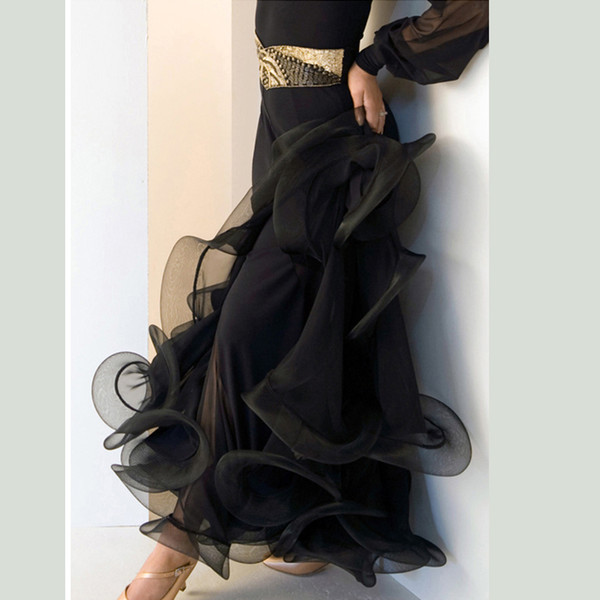 salsa flamenco ballroom gonna abito da ballo flamenco gonne sala da ballo ballo gonna pratica danza usura valzer vestito