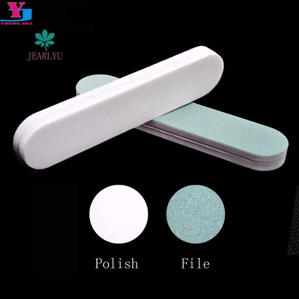 2018 new 5pcs Nail Buffer File Block Mini Sponge Buffing Sanding Polish Grit Polisher Makeup Pedicure Manicure Tips Tools c40