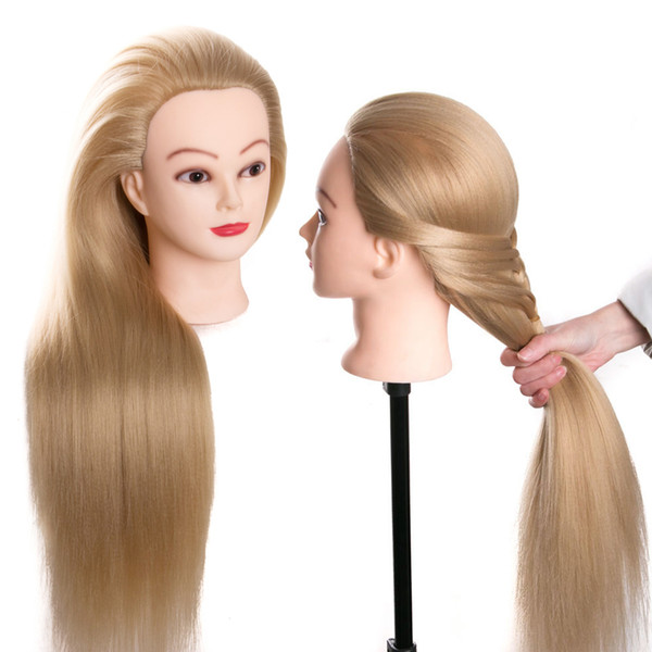 head dolls for hairdressers 70 cm hair synthetic mannequin head hairstyles Female Mannequin Hairdressing Styling Training Head