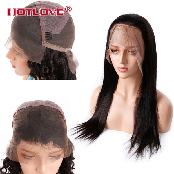 Hotlove Hair Wigs For Women Brazilian Straight Hair Full Lace Wigs 150% Density Pre Plucked With Baby Hair Full Lace Wigs 8-26 Inch