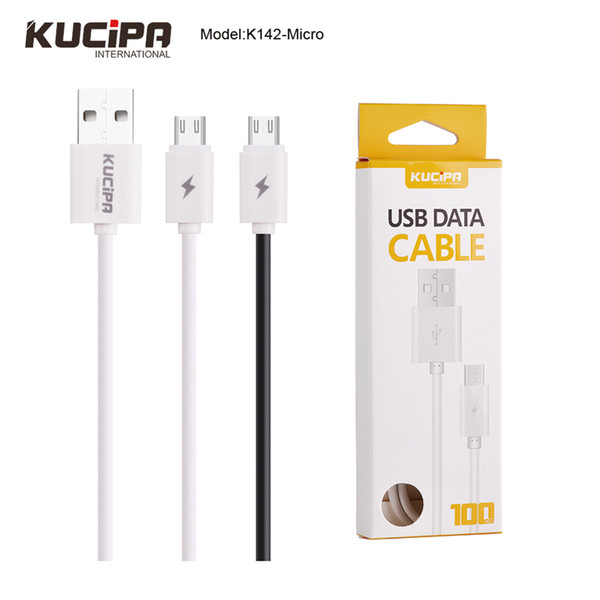 Kucipa 100cm Ultra Speed Data Cable Micro USB Or Type C Charging Fast Data Transfer cable For Iphone Samsung in Flat Retail Packing