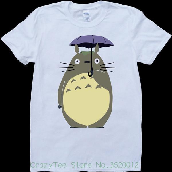 3ad5371ff0ee2 Women's Tee My Neighbor Totoro Holding Umbrella Mens White , Custom Made T-shirt  Cheap