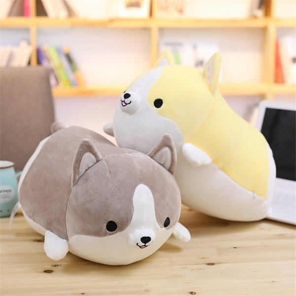 Nicely 1PC 35cm Cute Corgi Dog Plush Toy Stuffed Soft Animal Cartoon Pillow Lovely Christmas Gift for Kids Kawaii Valentine Present