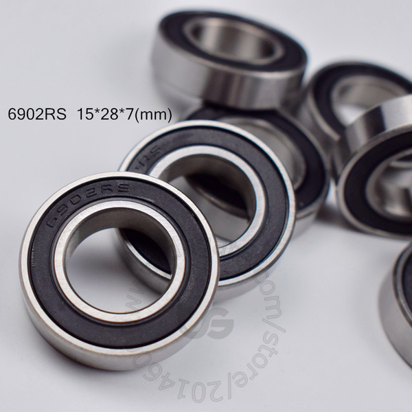 best selling 6902RS bearing Rubber sealed Thin wall bearing free shipping 6902 6902RS 15*28*7 mm chrome steel deep groove bearing