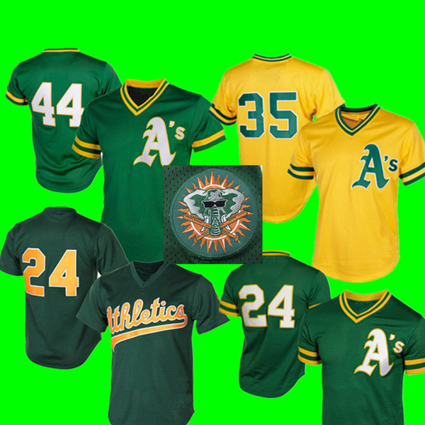 new arrival 8f771 8ffaa 2019 Oakland Jersey Men'S 24 Rickey Henderson 35 Rickey Henderson 44 Reggie  Jackson Baseball Jerseys Cheap Wholesale From Best_soccer_jersey, $22.34 |  ...