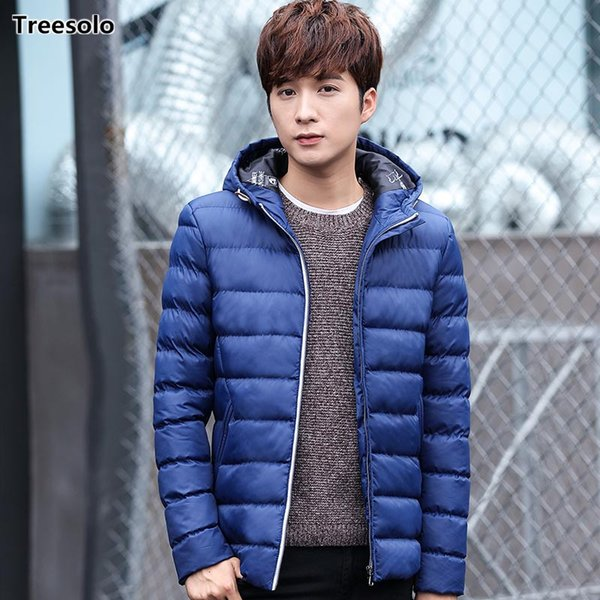 Winter Casual men clothes 2018 jaqueta masculina inverno Thick Warm Solid Color Mens Coat Cotton-Padded Brand Fashion Parkas 768