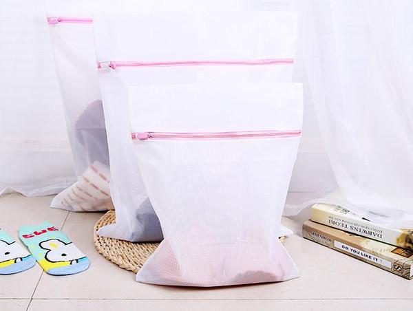 50 Ensemble S / M / L Vêtements Machine À Laver Blanchisserie Soutien-Gorge Aide Lingerie Maille Net Sac De Lavage Pouch Basket livraison gratuite