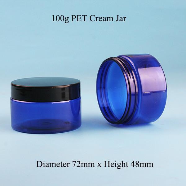 50pcs / Lot 100ml Crème Verre Faciale En Verre Crème Faciale Emballage 100g Outils De Maquillage 10 / 3OZ Emballage Crème Pour Les Mains Rechargeable