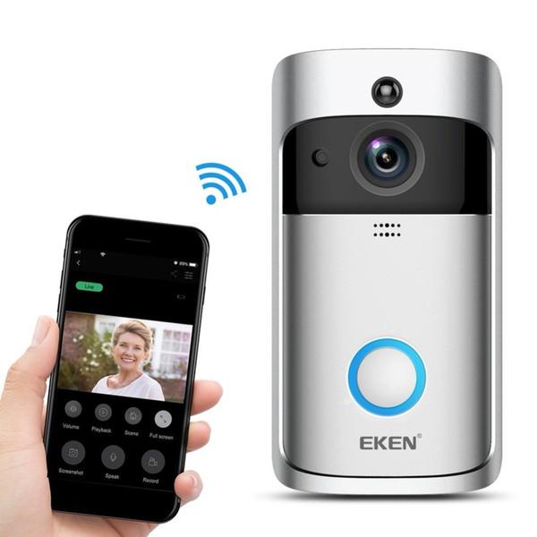 EKEN Smart Wireless Video Campanello 2 720P HD 166 ° Wifi Telecamera di sicurezza in tempo reale Conversazione bidirezionale e video Rilevazione movimento PIR Controllo APP