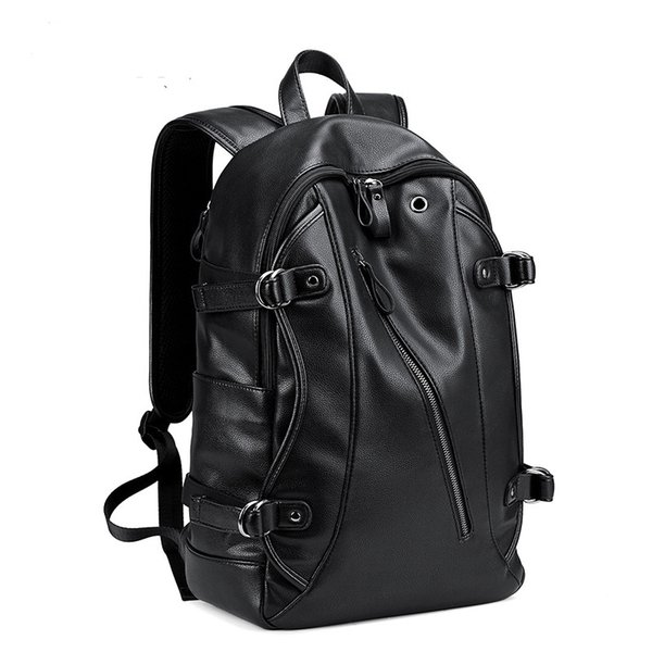 best selling Men Backpack External USB Charge Waterproof Backpack Fashion PU Leather Travel Bag Casual School Bag For Teenagers