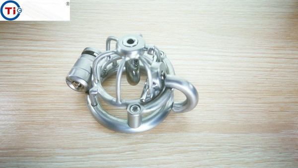 2018 Ultra Short Chastity Lock Chastity Cage Bondage Dispositivo per castità maschile Gear Cock Cage Gabbia per pene in acciaio inossidabile per uomo Cb Bdsm SM