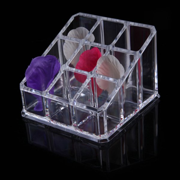 9 Grid Makeup Organizer Box Clear Acrylic Cosmetic Organiser Drawer Jewelry Storage Box Jewelry Storage Case Stand 8.5*8.5*6cm
