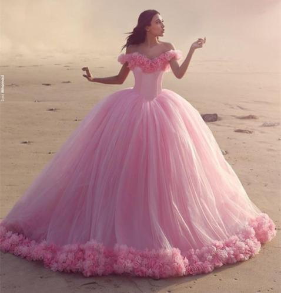 Real Princess Pink Wedding Dresses Vestido