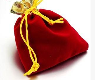 Wholesale Jewelry package necklace ring gold velvet gift bag collections souvenirs fashion gift
