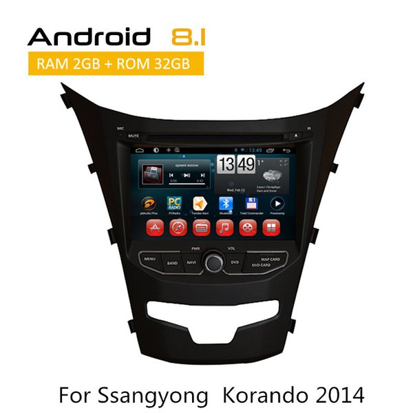 In Dash Car DVD Media Player Gps Navigation for Ssangyong Korando 2014 Built in Wifi and 3G, fast speed surfing
