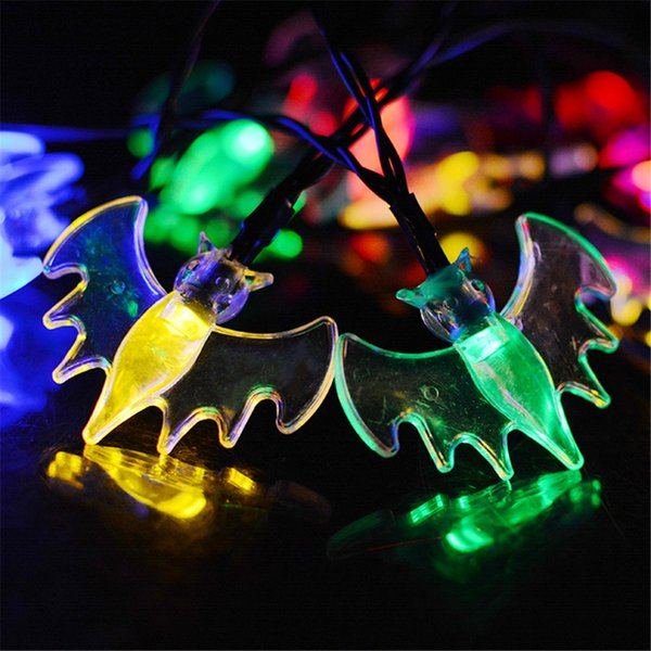 Bat Solar String Light 30 LED Waterproof Solar Power String Lights for Party,gardens,outdoor,home,holiday Decorations, Christmas Tree Decora