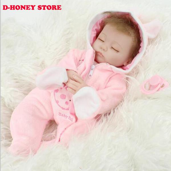 20 дюймов кукла возрождается мягкий винил реалистичные возрождается младенцев для девочек реалистичные розовый комбинезон новорожденных кукол