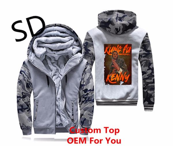 Dropshipping 3D Vintage Harajuku Hodies Erkekler Kendrick Lamar Kung Fu Kenny Tişörtü Coat Fermuar Hoodie Kış Ceket Artı Boyutu