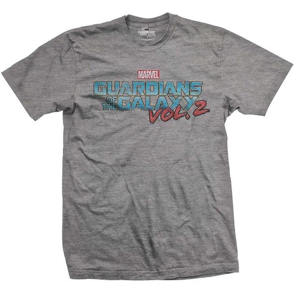 Маленькие Серые мужские Хранители Галактики Том. 2 Винтажная цветная футболка с логотипом -