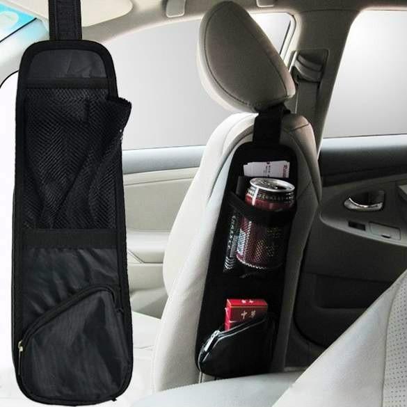 Support de collecteur de sac de véhicule noir multi poche latérale / organisateur de stockage de poche de siège