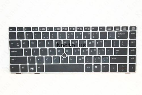 Clavier d'ordinateur portable américain pour HP 8460p 8470p CLAVIER d'ordinateur portable