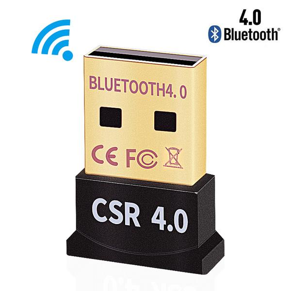 Adaptador inalámbrico Bluetooth USB 4.0 Bluetooth Dongle Receptor de sonido de música Adaptador Bluetooth Transmisor para PC portátil 50 unids / lote