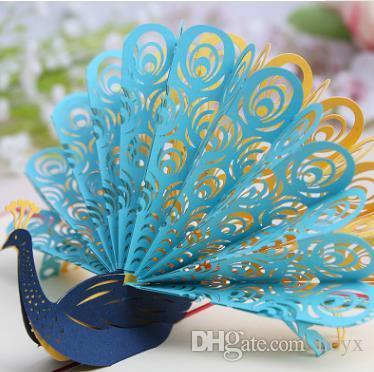 Peacock Creative gilt birthday card watercolor blessing can be customized general valentine's day card teachers' day