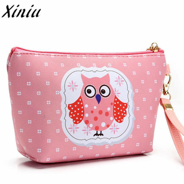 Xiniu owl bags Cosmetic Bags make-up-bag Large Makeup box Women Travel Portable Toiletry Wash Cosmetic Box Makeup Storage Bag #L
