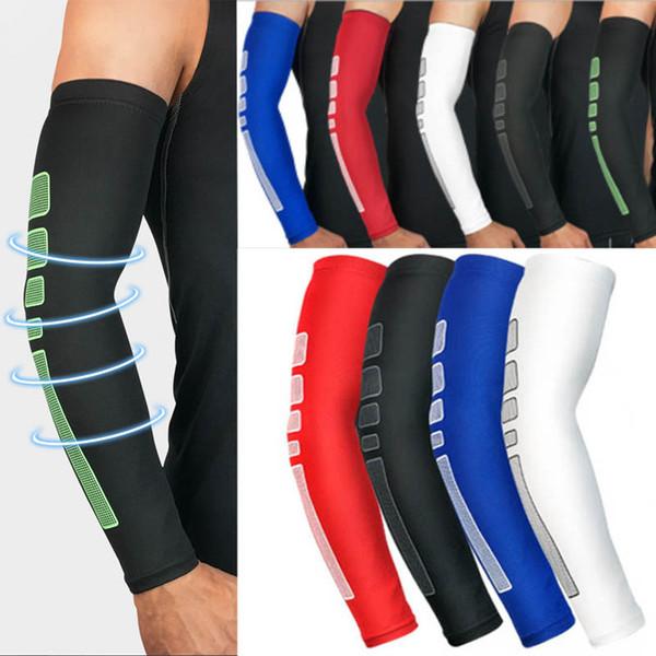 Logo personalizzato Manicotti unisex per braccio e gomito Compressione Cooling Braccio copertura Outdoor maniche lunghe Guanto Supporto FBA Drop Shipping G438S