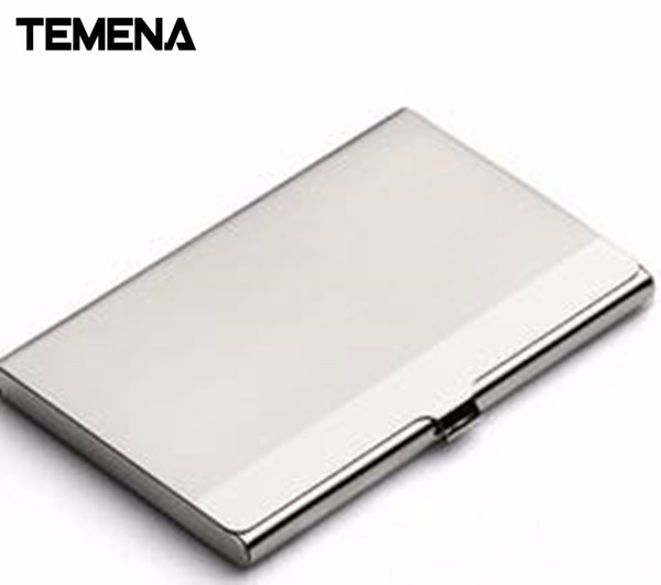 Stainless Steel HASP UNISEX Business  Holder Case Protect Your Bank Debit, ID Cards Metal Travel Wallet ACH205