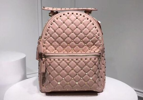 AAA 26cm Spike Backpack Studded Nylon Rucksack Quilted with Micro Stud,Zip Closure,Nappa Leather Lining,Adjustable straps,Free Shipping