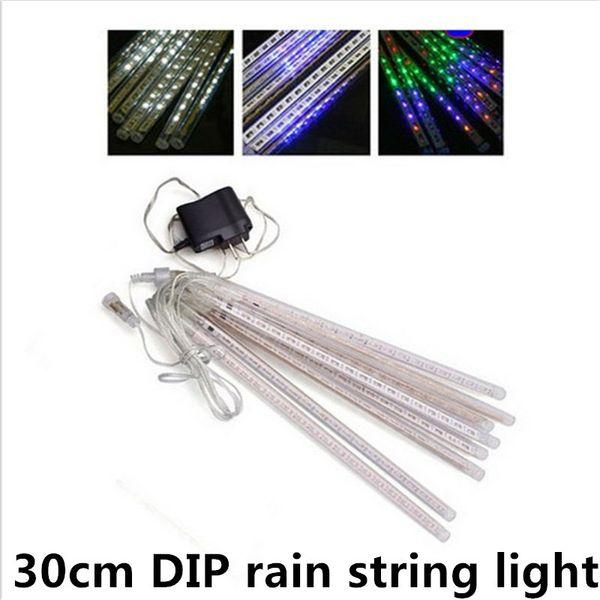 waterproof 30cm meter shower rain 8 tubes led christmas string lights AC110V-220V EU/US plug for wedding garden lighting