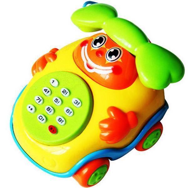 Bebek Çocuk Eğitici oyuncaklar Müzik Karikatür Telefon Gelişim Çocuklar Hediye Oyuncak Çekme Halat Telefon Müzik Karikatür P20