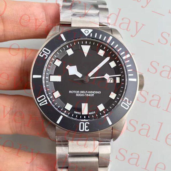 Upgraded version Rubber Strap Mens Automatic Eta 2824 Titanium Watch Men 25500TN Rotor Luminous Self Winding Dive Date Pelagos Swiss Watches