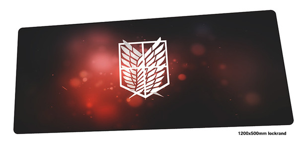 attack on titan mouse pad gamer New arrival 120x50cm notbook mouse mat gaming mousepad large anime pad PC desk padmouse