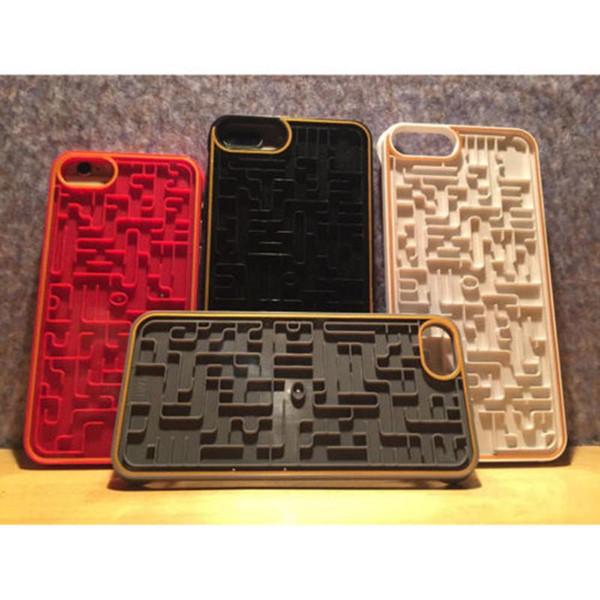 Novo labirinto phone case para o telefone 6 6 s 7 8 Relaxar Labirinto PC Map Cover Game com caixa de embalagem de Varejo