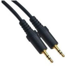3.5mm 50CM Male to Male Audio Aux Plug 3-Ring Mini AV Cable 1500ps/lot