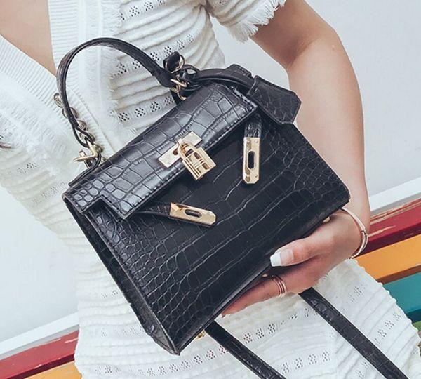 30f9b378cc European and American fashion crocodile pattern platinum bag 2019 new  handbag simple versatile shoulder Messenger small