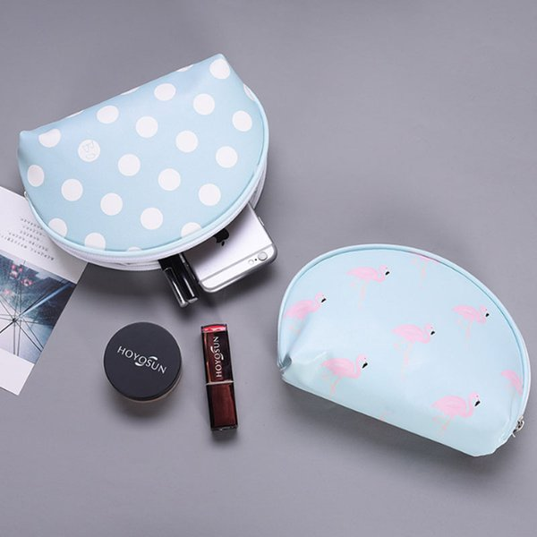 Yesello Travel Cosmetic Bags Women Cute Strawberry PU Leather Makeup Bag Storage Organizers Lady Pouch For Make Up Case