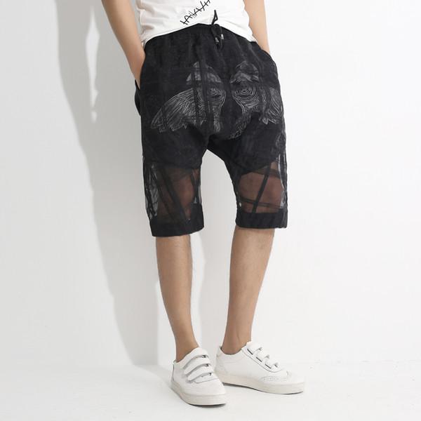 23fe11007342 Compre Pantalones Cortos Transparentes De Los Hombres Pantalones Cortos De  Doble Capa Hombres Mezcla De Algodón Ver A Través De Sexy Mens Summer ...