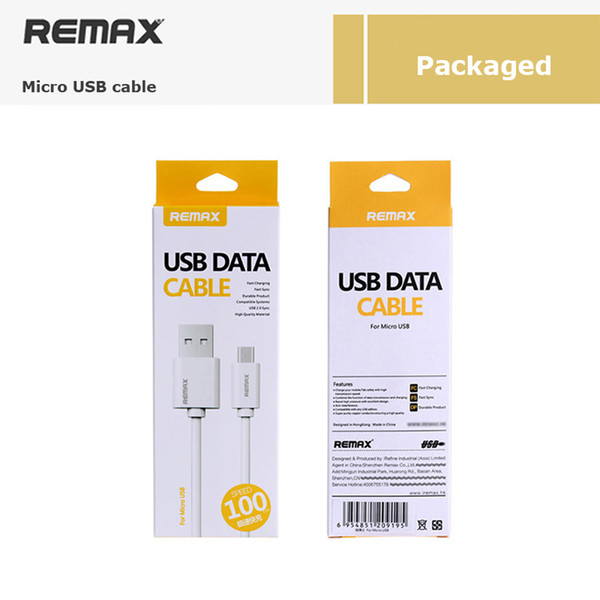 Original Remax Fast charge 2A 1m Classical White Micro USB Cable For Iphone mobile Phone Cable Android Charger data cable for samsung galaxy