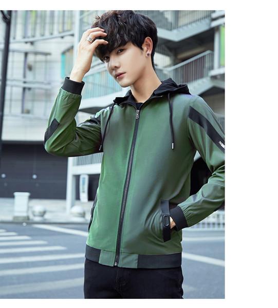 Осень и зима корейской версии новой мужской повседневной куртки моды подростка студенческой спортивной куртки мужской одежды 78624