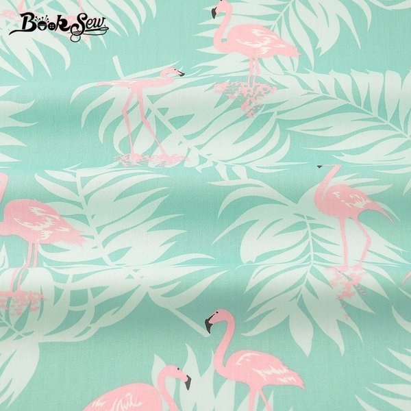 Booksew Cotton Twill Fabric Red-crowned Crane Pattern For Bed Sheet Craft Patchwork Quilting Home Textile Sewing Cloth Tecido