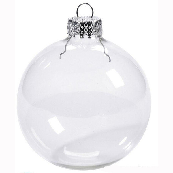 "Wedding Bauble Ornaments Christmas Xmas Glass Balls Decoration 80mm Christmas Balls Clear Glass Wedding balls 3"" / 80mm Christmas Ornaments"