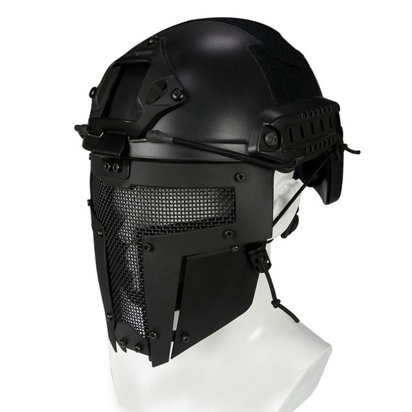 Full Face Mask Metal Steel Net Mesh Mask Caccia Tattico protettivo CS Halloween Party Cosplay Full Cycling Face