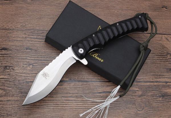 New Wild Boar Dogleg Dog Leg Large Folding knife 8cr13mov Blade CNC G10 Handle Camping Hunting Tactical knives EDC tool