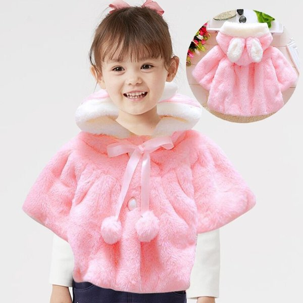Baby Girl Clothes Infant Girls Fur Winter Warm Coat Cloak Jacket Thick Warm Clothes Baby Girl Cute Hooded Long Sleeve Coats #H23