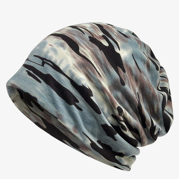 2018 New Spring Summer Men Women Skullies Camouflage Beanie Turban Hat Pregnant Mother Caps Cotton Outdoor Hat Fashion Scarf Headwear