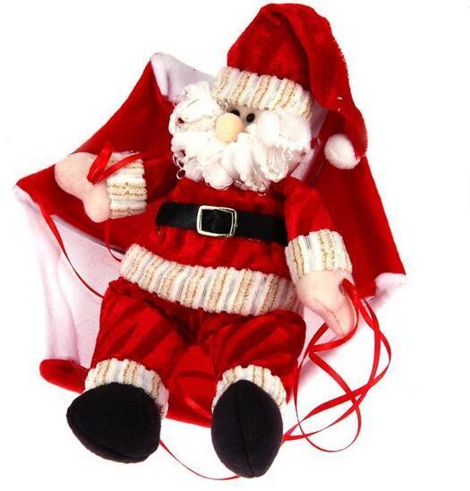 Decoración navideña Papá Noel / muñeco de nieve colgante de paracaídas del árbol de navidad adornos colgantes de natal para arvore de natal